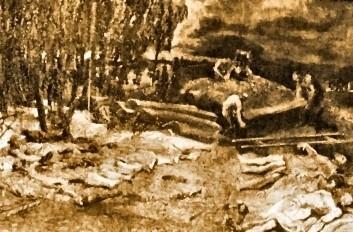 inhumation des cadres de communards le 25 mai 1871