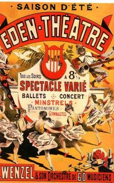 Eden-Théâtre,casino cadet,folies-bergères,minstrel's,