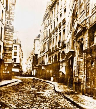 rue de l'Ecole de médecine et des Boucheries vers 1860.jpg