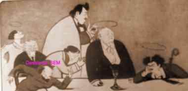 Sem,1896,1900,Emile  bergerat,courteline,georges beer,jean de bonnefon,catulle mendès,ernest lajeunesse