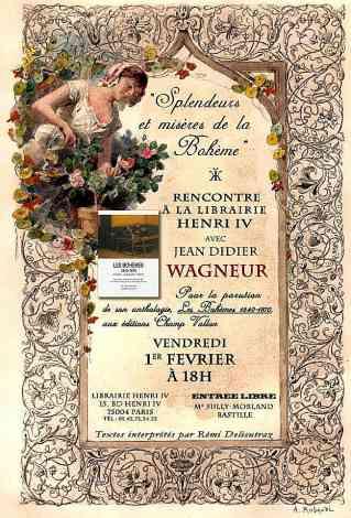 jean-didiier Wagneur,françoise cestor,bohème,champ vallon