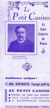 Etienne Rey Simone George,Zazou,passage Jouffroy,