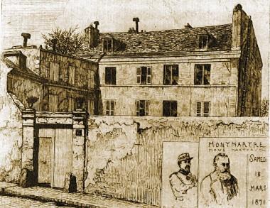 rue des rosiers,61e bataillon,18 mars