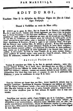 Maintenon, code Noir,esclavage,louisXIV