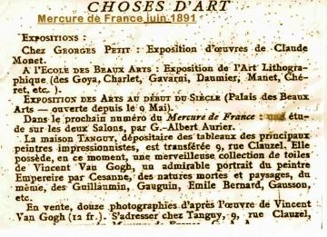 Cézanne,van Gogh,Gauguin,Guillaumin,Léo Gausson,Tanguy