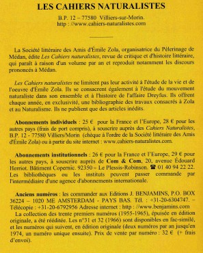 cahiers naturalistes,céline Grenaud,Alain Pagès