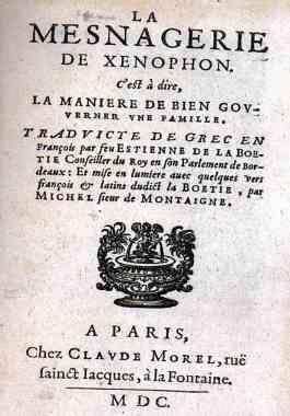 LA BOETIE,MICHEL DE MONTAIGNe,1600,