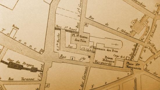 rue Childebert,rue Taranne,rue de l'Abbaye